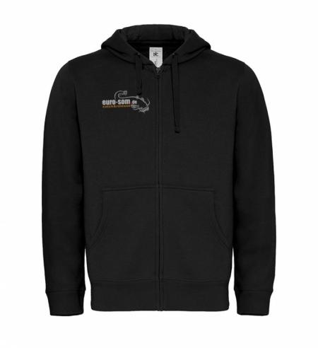Sweat Jacket schwarz 2 x Logo  euro-som