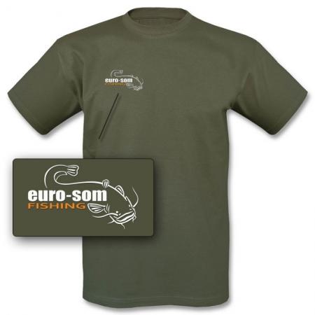 T-Shirt mit Logo euro-som olive