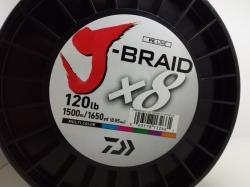 Daiwa J-Braid X8 Multi Color 1500m - 0,55mm-120lb-60kg