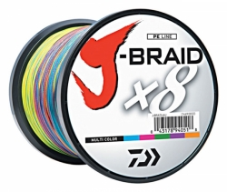 Daiwa J-Braid X8 Multi Color 1500m - 0,50mm-100lb-51kg
